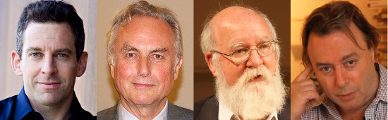 Sam Harris, Richard Dawkins, Daniel Dennett y Christopher Hitchens