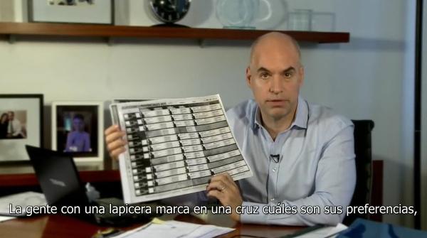 Horacio Rodríguez Larreta y la boleta única