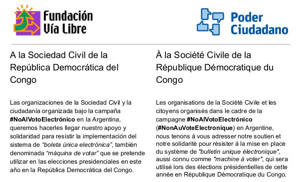 Carta a la RDC
