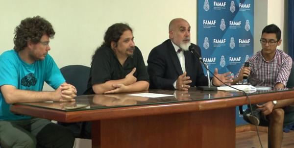 Conferencia de Prensa en la FAMAF