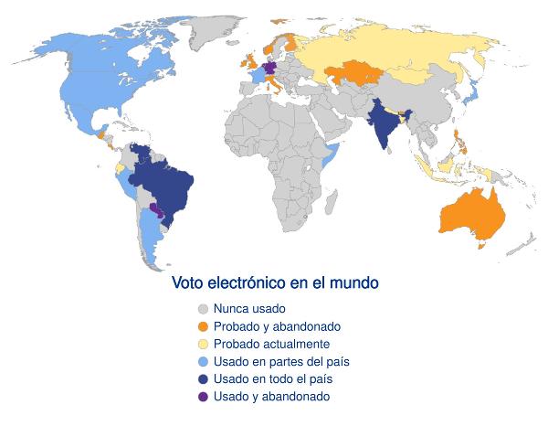 El voto electrónico en el mundo
