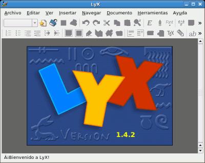 Inicio de LyX
